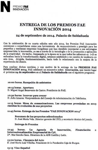 EL GRUPO KEPLER RECIBE EL PREMIO FAE INNOVACION 2014