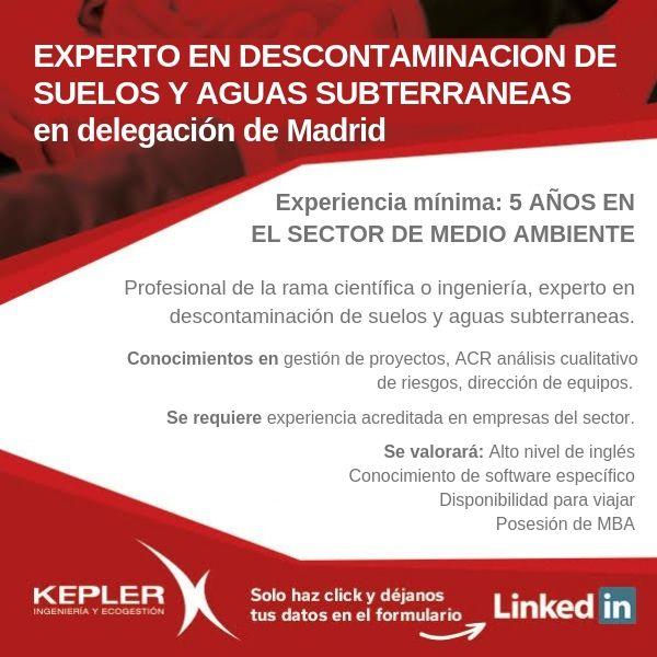 Oferta de empleo Kepler para delegación de Madrid