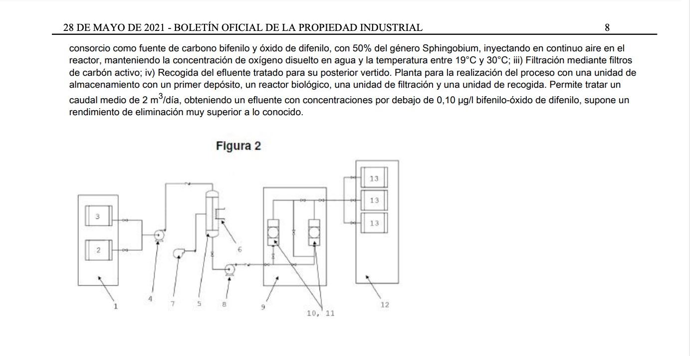 patente tratamiento bifenilo oxido difenilo 2